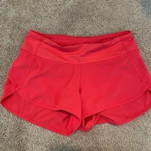 Lululemon Dark Pink/Red Speed Short